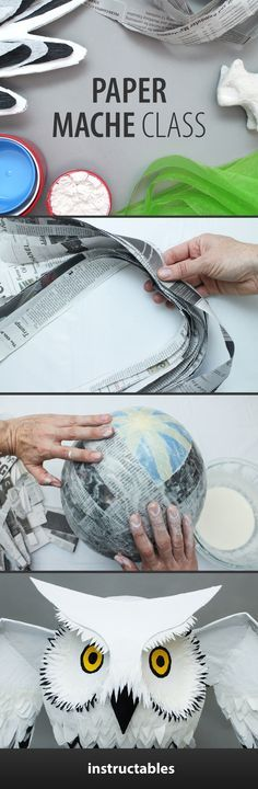 In this class we'll be exploring some of the most basic materials and techniques used to create different types of paper mache projects.