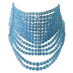 Christian Dior by John Galliano Couture Collection Masai Necklace Choker | From a unique collection of vintage beaded necklaces at https://www.1stdibs.com/jewelry/necklaces/beaded-necklaces/