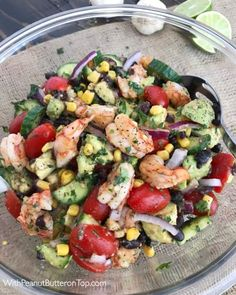 Cilantro Lime Shrimp and Avocado Salad - a salad packed full of vegetables that will become a go-to meal or dish in your kitchen from the moment you try it! This salad is very easy to make, light and refreshing in flavor, and can be made in minutes.