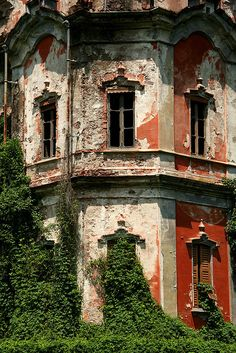 Abandoned red house