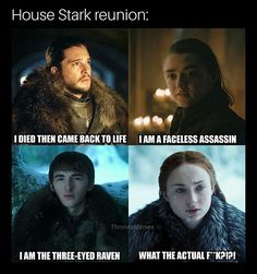 Love the Starks, i totally want all four to reunite soon