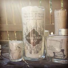 Marauder's map candle holder Harry potter candle by Vsoffbeat                                                                                                                                                                                 More