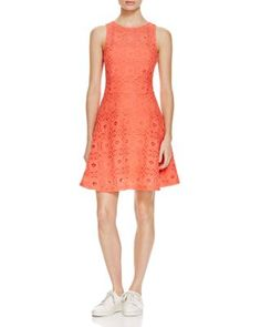 AQUA Crochet Lace Illusion Dress | Bloomingdale's
