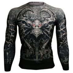 BTOPERFORM compression base layer gatekeeper of hell design full printed Dad To Be Shirts, Cool T Shirts, Mens Fashion, Fashion Outfits, Personalized T Shirts, Casual Elegance, Rash Guard, Custom T, Shirt Designs