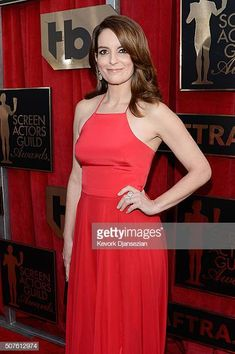 Actress Tina Fey attends the Annual Screen Actors Guild Awards at The Shrine Auditorium on January 30 2016 in Los Angeles California Lumpy Space Princess, Sag Awards, Tina Fey, Female Actresses, Prom Dresses, Formal Dresses, Red Carpet Dresses, Celebs, Celebrities