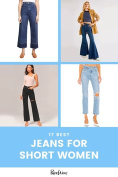 We've rounded up the 17 best pairs of petite jeans that are cropped, designed and crafted to fit a shorter frame. #jeans #short #pants Chic Fall Fashion, Fall Fashion Trends, Fast Fashion, Jeans For Short Women, Petite Jeans, Shearling Jacket, Best Jeans, Street Style Looks, Fashion Editor