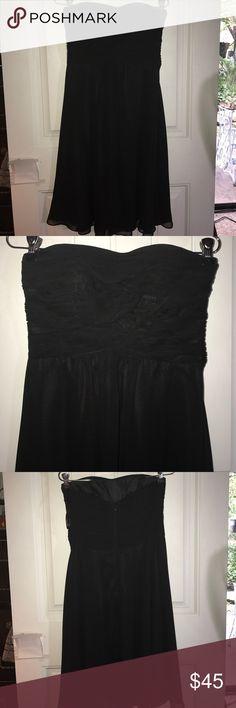 White House Black Market strapless black dress Sexy yet refined flows black dress by White House Black Market in size 6 White House Black Market Dresses Strapless