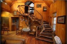 Unique wood staircase