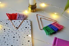 Arty's Getaway: Level up your stationery game with this pretty, budget friendly DIY Copper Bookmark Triangles with a Colorful Edge. Pop by for the tutorial.