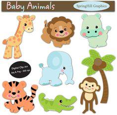 animal babies clip art