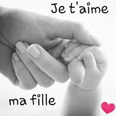 Je t'aime ma fille Cute Captions, French Quotes, You Mad, Talk To Me, Gods Love, Positive Quotes, Best Quotes, How To Memorize Things, Positivity