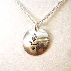 Nature UU Chalice in Sterling Silver by CrowStealsFire on Etsy, $32.00