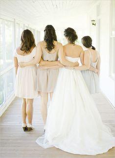 *I've got your back - bride & bridesmaids.