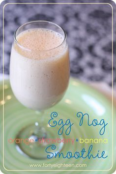 Egg nog as a smoothie base? I should have thought of that! This fruity egg nog smoothie sounds amazing!