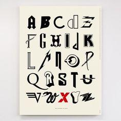 有名ロック・バンドのバンド・ロゴから「アルファベット表」を制作 AからZまでいくつわかる?と話題に - amass