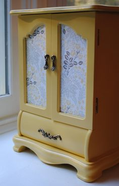 Vintage Jewelry Box Yellow Finish by PaperHeartsCouncil on Etsy, $100.00