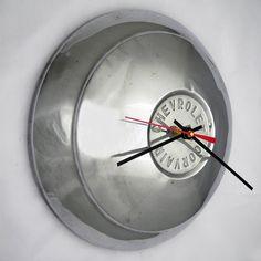 Chevy Corvair Hubcap Clock - 1960 - 1961 Chevrolet Wall Clock