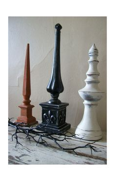 fall / halloween finials