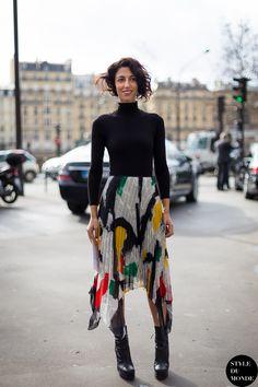 hello Yasmin you fabulous creature. in Celine & Rochas in Paris. #YasminSewell street style maven