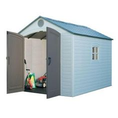 Lifetime Outdoor Storage Shed 6405 Sentinel 8 X 10 Ft Halle, Farmhouse Sheds, Outdoor Storage Boxes, Storage Shed Kits, Shed Base, Plastic Sheds, Clutter Solutions, Build Your Own Shed, Large Sheds