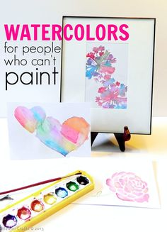 Stenciled Watercolors (for people who can't paint) - Mad in Crafts