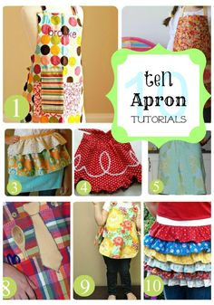 Great post with over 10 tutorials for making aprons!