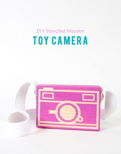 DIY Wooden Toy Camera + Giveaway! Toy Camera, Wooden Toys and