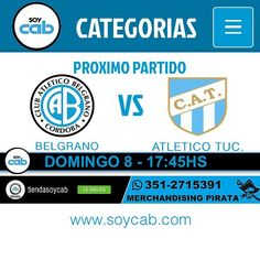 PRÓXIMO PARTIDO #Belgrano VS #atleticotucuman - DOMINGO 8 - 17:45HS - Tucuman - soycab.com EN VIVO ONLINE