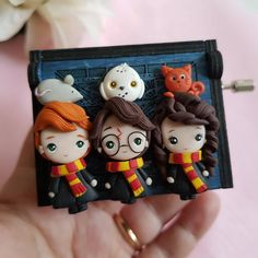FIMO creations ^-^ don't forget to add my Shop! Cute Polymer Clay, Cute Clay, Polymer Clay Charms, Polymer Clay Creations, Harry Potter Jewelry, Harry Potter Diy, Cool Paper Crafts, Clay Crafts, Fimo Kawaii