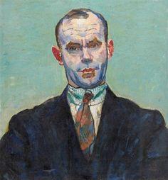 Cuno Amiet (Swiss, 1868-1961), Portrait du chanteur Felix Loeffel, 1924. Oil on canvas, 60 x 55 cm.
