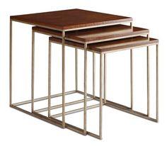 "Brownstone Furniture: Avalon Nesting Tables $696.00 & tax & shipping Set of 3: 20""w x 20""d x 20""h 22""w x 22""d x 22""h 24""w x 24""d x 24""h"
