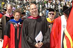 Commencement speaker Steve Jobs (holding documents) departs Stanford Stadium with, from left, the Rev. Scotty McLennan, Provost John Etchemendy and Board of Trustees Chairman Burt McMurtry, among others. Graduation Speech, Graduation Day, Graduation Pictures, Graduation Balloons, Graduation Quotes, Steve Jobs Speech, Freeman Dyson, Ein Job, Famous Speeches