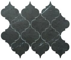 Arabesque Natural Stone Marble Persian Blue 250x210 Sheet Polished Mosaic