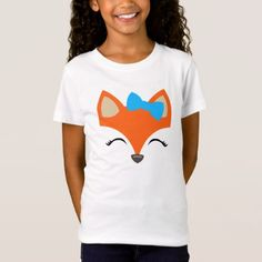 Fox with Bow tee for Kids - kids kid child gift idea diy personalize design