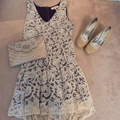 *SALE* High-low lace dress Beautiful lace dress. Minor wear, overall good condition! Note: Only includes dress. Dresses High Low