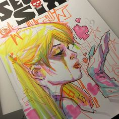Harley Quinn by Ken Lashley #art #ledkilla #kenlashley #sketchcovers #drawing #harleyquinn