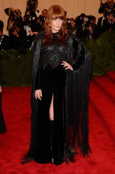 Florence looks like a medieval warrior, not a punk rocker, but I'll give her a pass.  Met Gala 2013: See All the Red Carpet Looks - The Cut