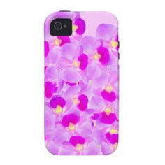 Pink Orchid Bouquet iPhone 4/4S Cases