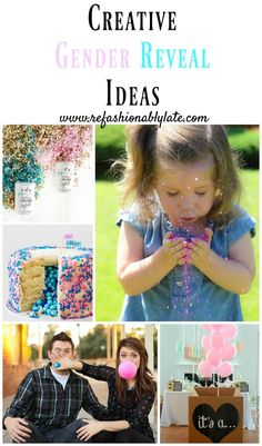 Creative Gender Reveal Ideas You Can Make Your Own http://www.refashionablylate.com