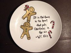 Sharpie Christmas plate