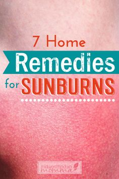 Relief the pain with our Top 7 Home Remedies For Sunburn! Easy methods you already have in your home today!