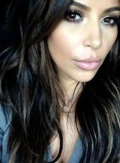 Kim Kardashian Goes Brunette Again - Gorgeous!