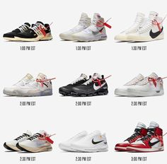 Tomorrow is the day as the @off____white x @nike collab will hit SNKRS  This drop was hyped up so expect the fuxk shxt tomorrow but good luck to all those who are going after the shoes!  Drops  Nike Air Presto 1pm Nike Basketball HyperDunk 17 w/ React 1:30 pm Nike Blazer 1:30 pm Nike Air Max 90 2:00 pm Nike Air Vapormax 2:00 pm  Nike Air Force 1 Low 2:30 pm  Nike Running Zoom Fly 2:30 pm Nike Air Max 97 2:30 pm Air Jordan 1 3:00 pm All times are eastern so adjust accordingly  #cnsmnt…