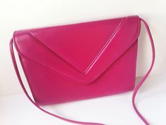 Hot Pink Vintage Purse with Shoulder Strap