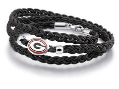 Georgia Bulldogs Leather Wrap Bracelets and Jewelry -- Check out this great product.