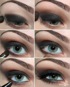 Step by step black smokey eye. Love it!