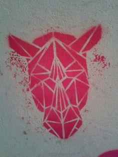 Origami stencil art