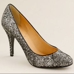 Sparkly shoes for holiday parties from J. Crew