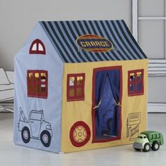 No Place Like Play Home (Garage)  | The Land of Nod would be so cute for our boys playroom.   Christmas idea.
