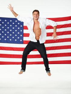 Ryan Lochte & the American flag. It doesn't get much better than this